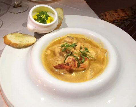 Pequeno Mundo Restaurant - Algarve - Portugal Sea Bream Salsa Verde Bouillabaisse