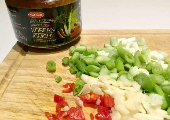 Kimchi Fried Cauliflower Rice by Emma Eats & Explores - Paleo, Gluten-Free, Grain-Free, Refined Sugar-Free, Vegan, Vegetarian, Dairy-Free