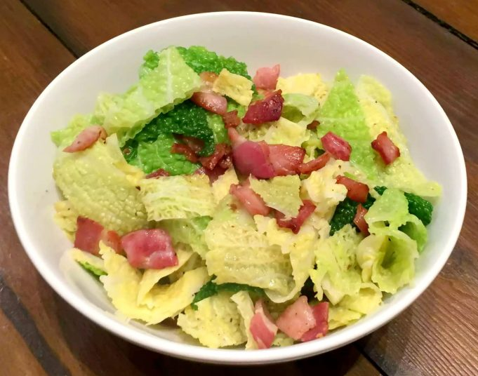 Buttery Savoy Cabbage with Bacon by Emma Eats & Explores - SCD, Paleo, Glutenfree, Grainfree, SugarFree