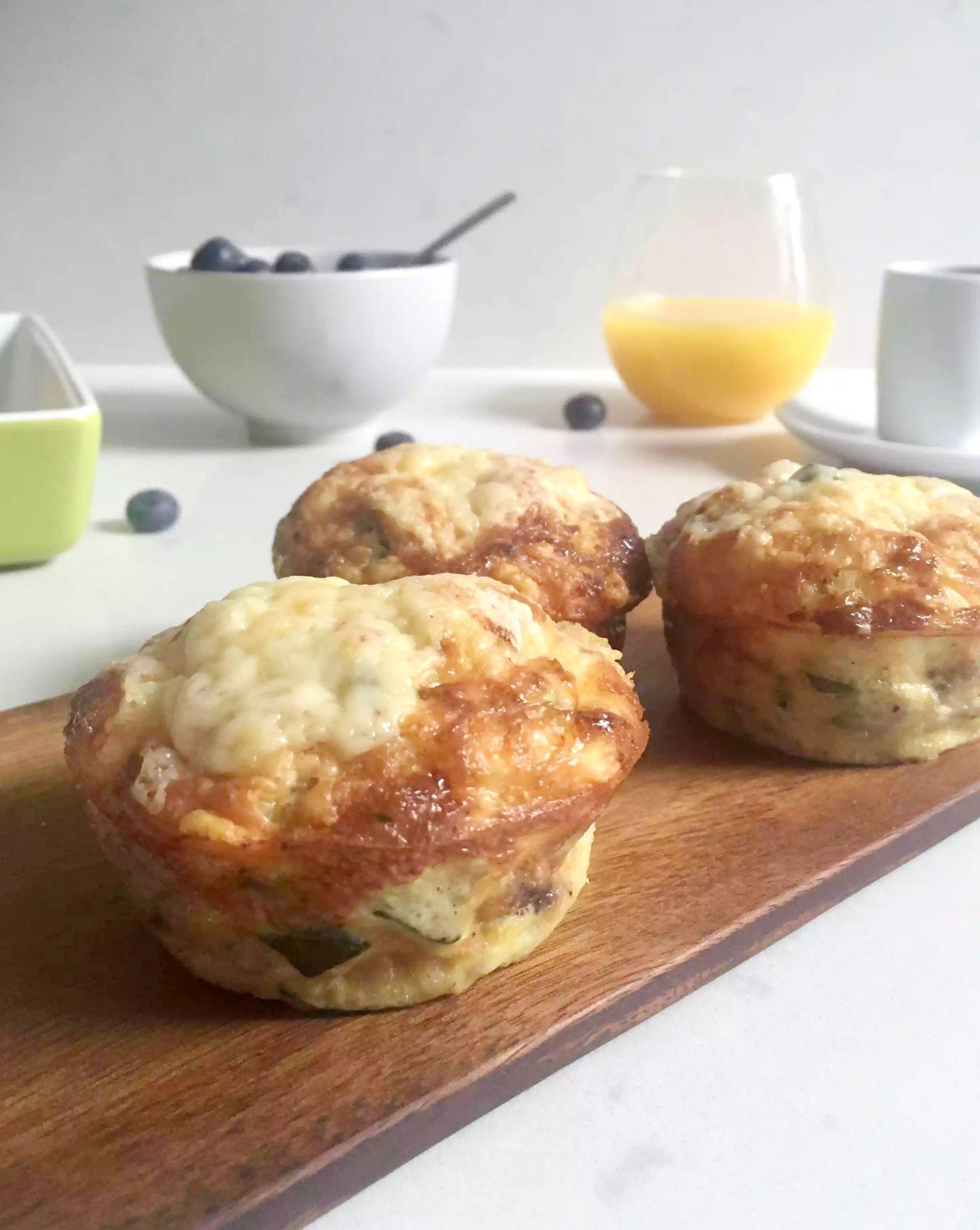 Cheesy Courgette Frittata Muffins (Zucchini)