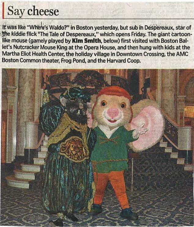 Despereaux meets the Mouse King - Boston Globe - 2/17/08
