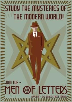 Men of Letters WPA Poster