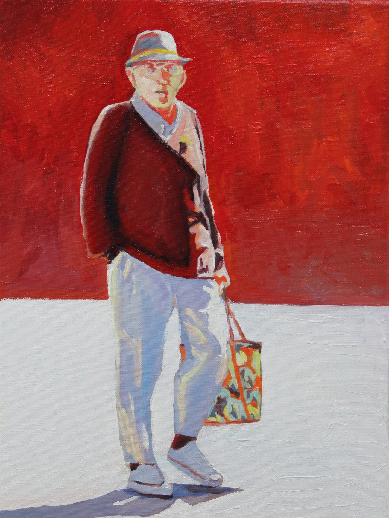 Contemporary oil painting of Swansea man