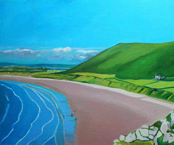 Painting of Gower, Rhossili Bay_EmmaCownie