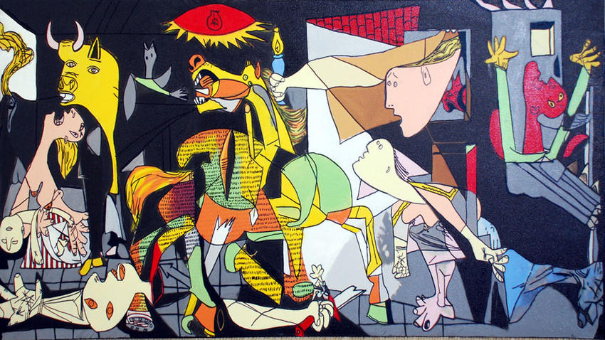 steve_kaufman_homage_to_picasso_guernica