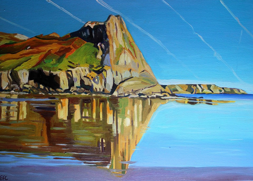 Gower painting of Great Tor From Tor Bay