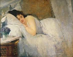 Gonzalès, Eva Morning Awakening or The Dream, detail, 1877-78