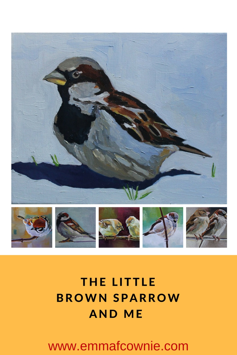 The little brown sparrow and me