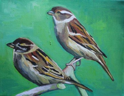 Two Sparrows