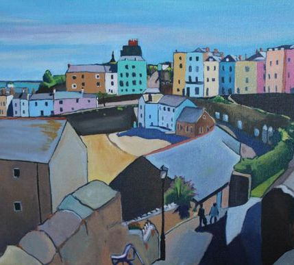 Overlooking the Harbour at Tenby
