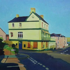 Painting of Cricketers pub
