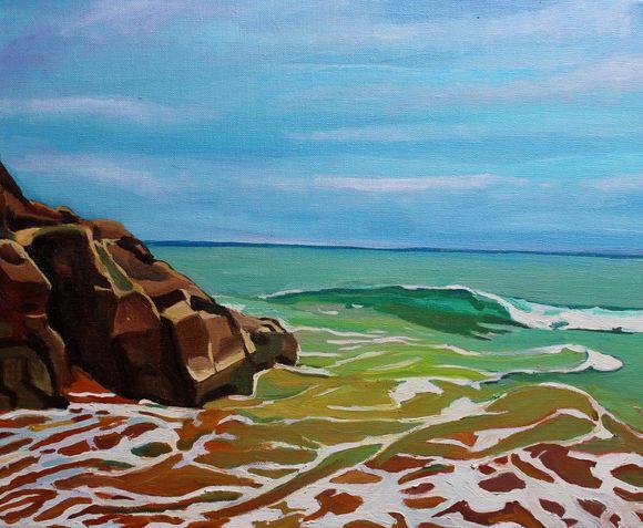 Waves at Fall Bay