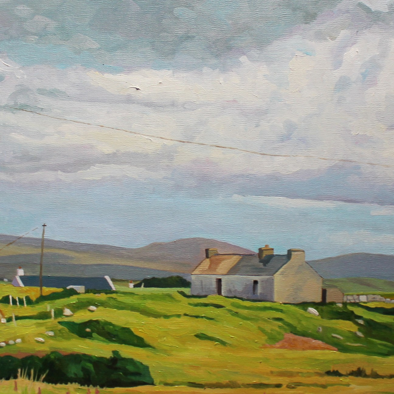 Donegal painting of area around Cloughcor, Arranmore