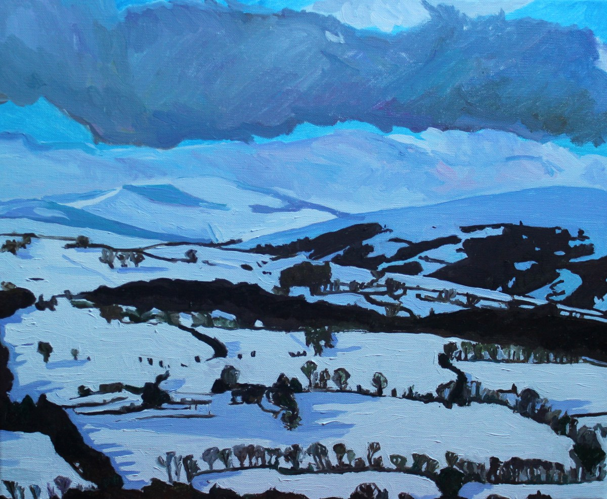 Painting of Brecon Beacons by Emma Cownie