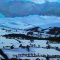 Painting of snow on Brecon Beacons by Emma Cownie