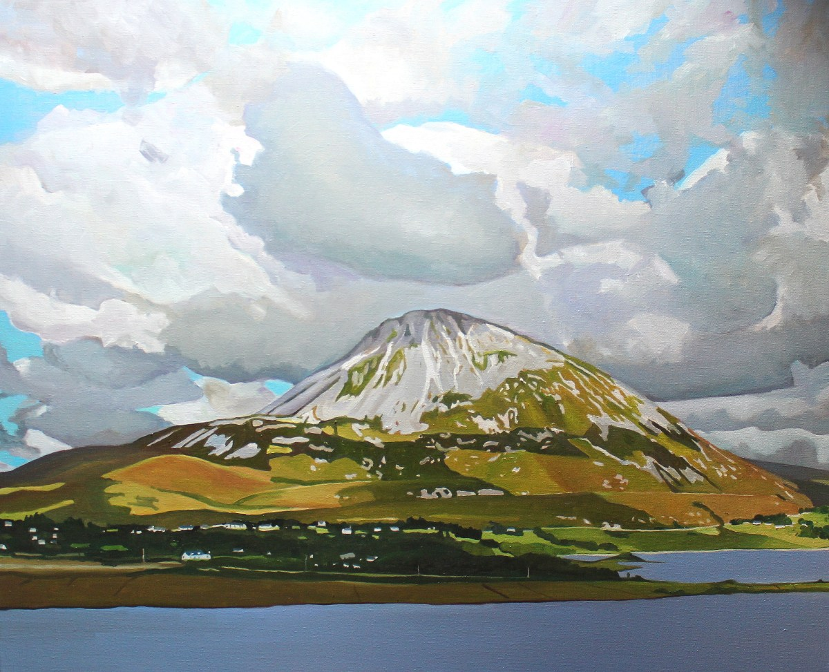 painting of Donegal Landscape mountain
