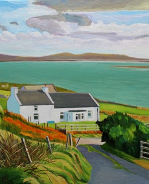 Painting of Donegal cottage