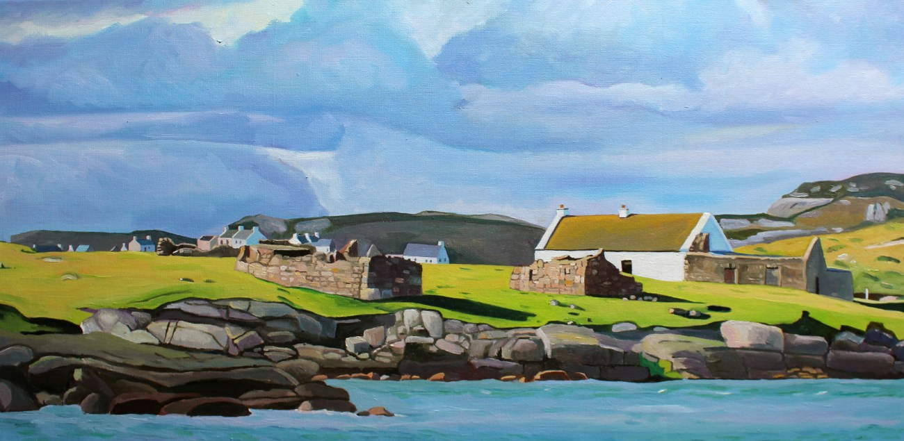 donegal painting of Gola, West Donegal.