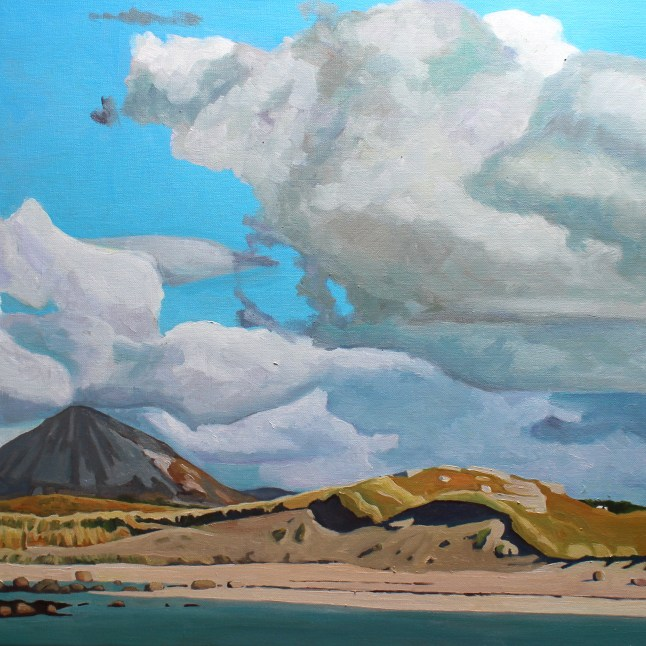 Donegal painting, a beach on a sunny day.
