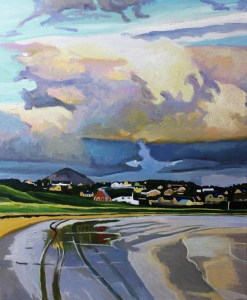Painting of Bunbeg, Donegal, Ireland.