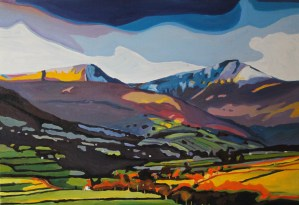 Painting of Pen Y Fan