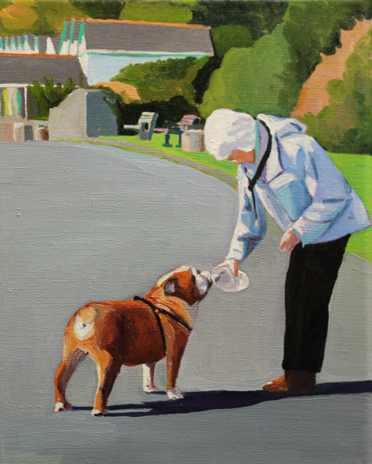 Painting of an English Bulldog