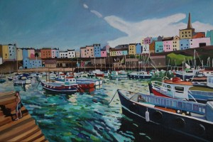 Painting of Steps in Tenby Harbour
