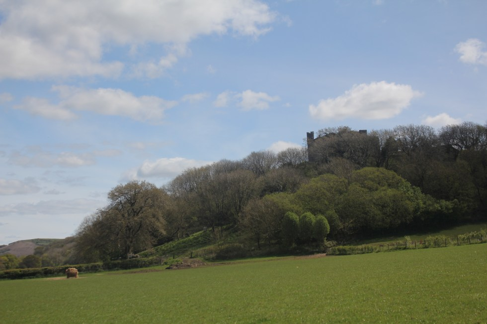 Weobly Castle, Overlooks Llanridian saltmarsh