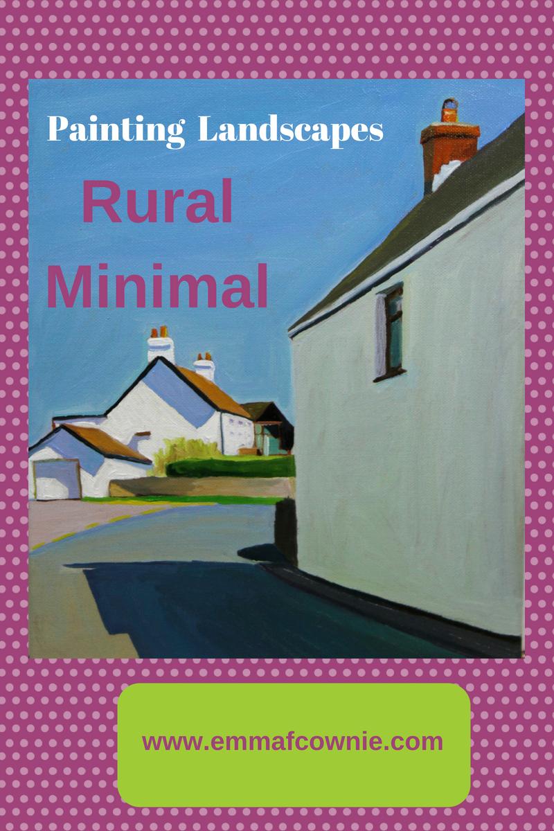 Landscape Painting – Rural minimal