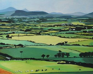 Oil Painting of Brecon Beacons