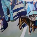 Painting of Dog at Uplands Market