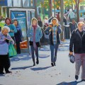 Painting of Street in Sunshine