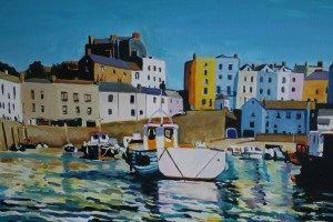 Painting of Tenby Boats