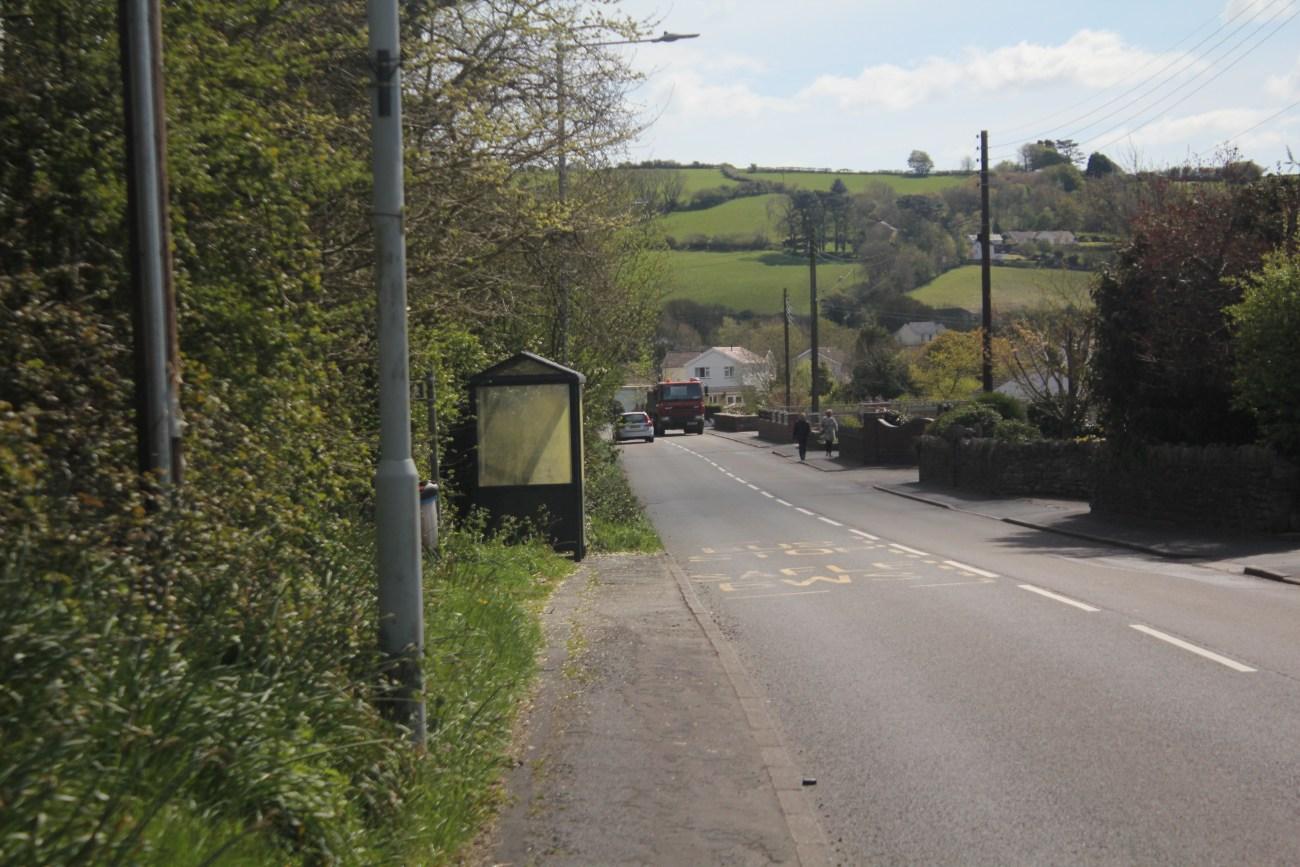 Bus stop at Crofty