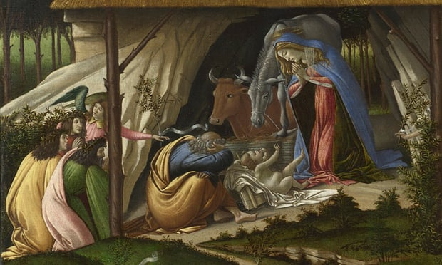 a detail from Sandro Botticelli's Mystic Nativity (1500).