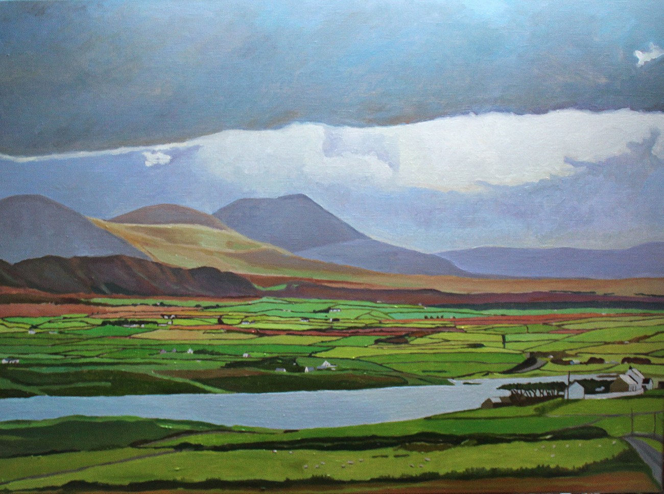 Oil painting of Dunfanaghy and Muckish, Donegal