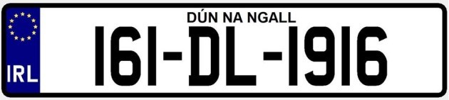Donegal number plate
