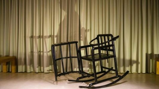 Badiucao was going to use this restraining chair of the type reportedly used by Chinese police in his show
