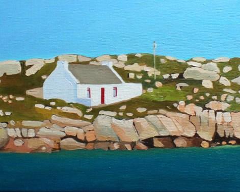 Painting of Irish cottage, Arranmore, Ireland