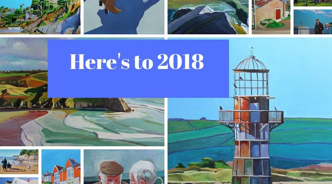 Emma Cownie's 2018 paintings