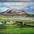 Painting Donegal landscape.