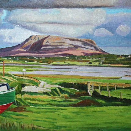 Painting Donegal landscape.