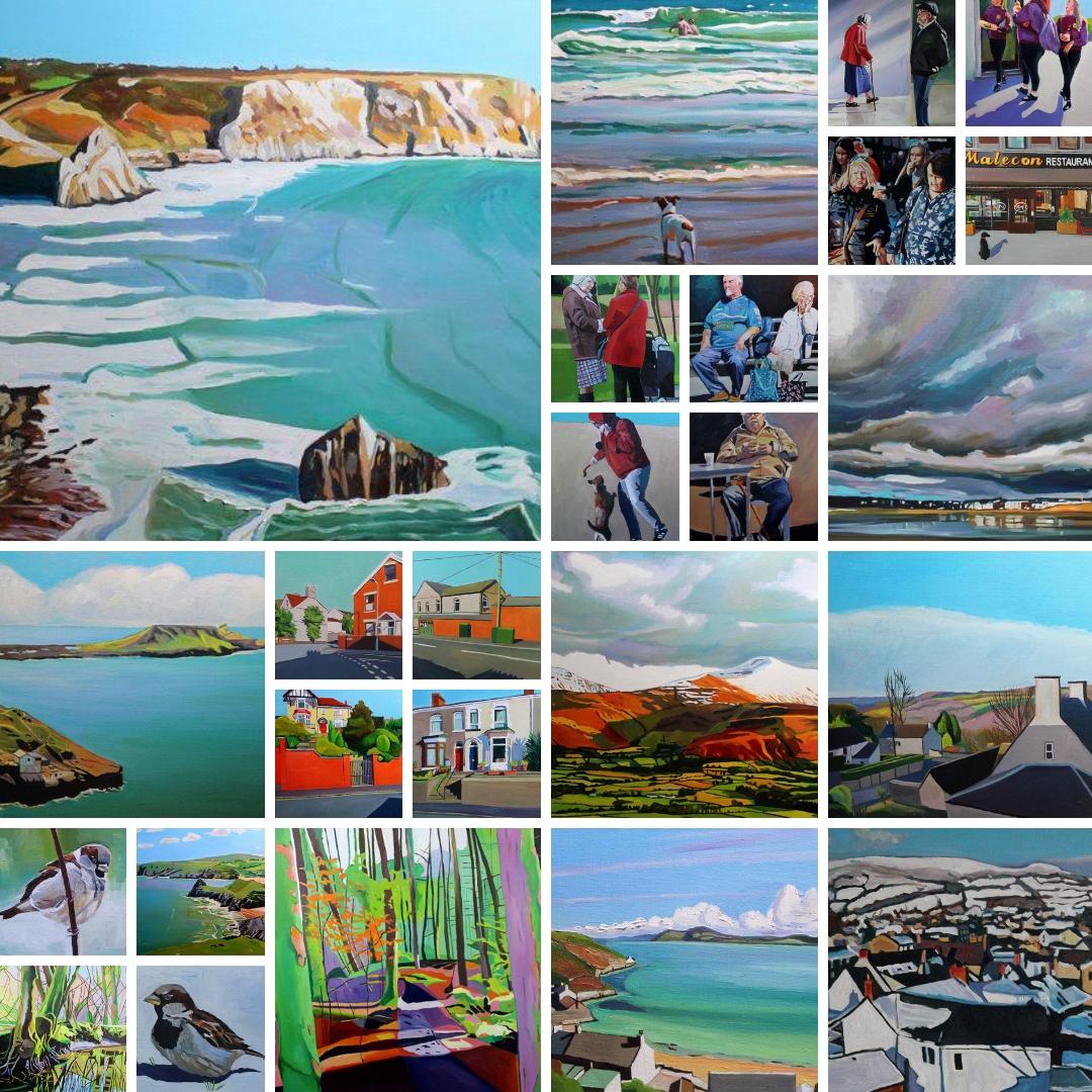 Oil paintings by Swansea artist