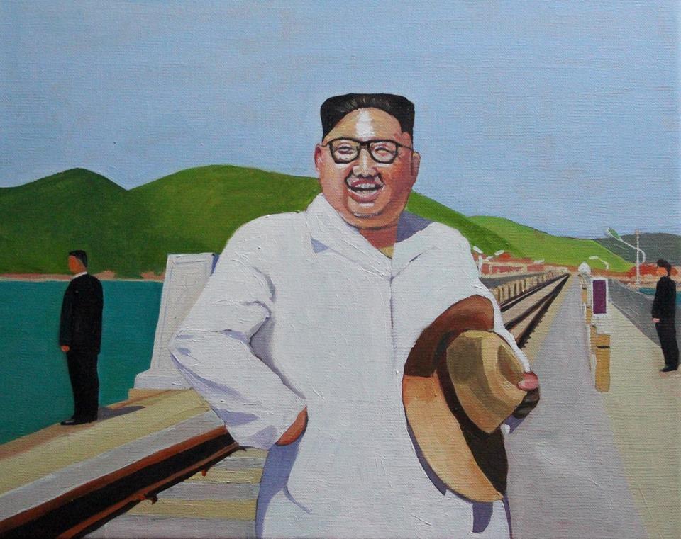 Painting of Kim Jong Un