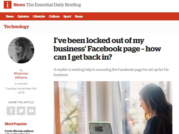 Facebook locks people out of their Business pages