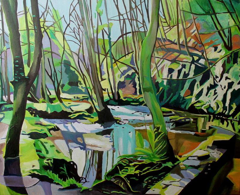 Painting of woodland