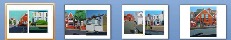 Paintings of Welsh Streets