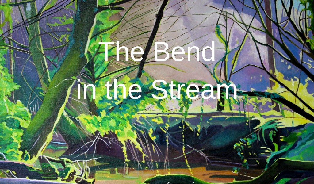 Painting of woodland stream