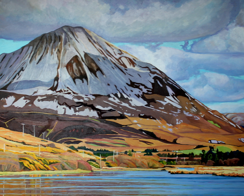 Donegal painting of Mount Errigal, Ireland