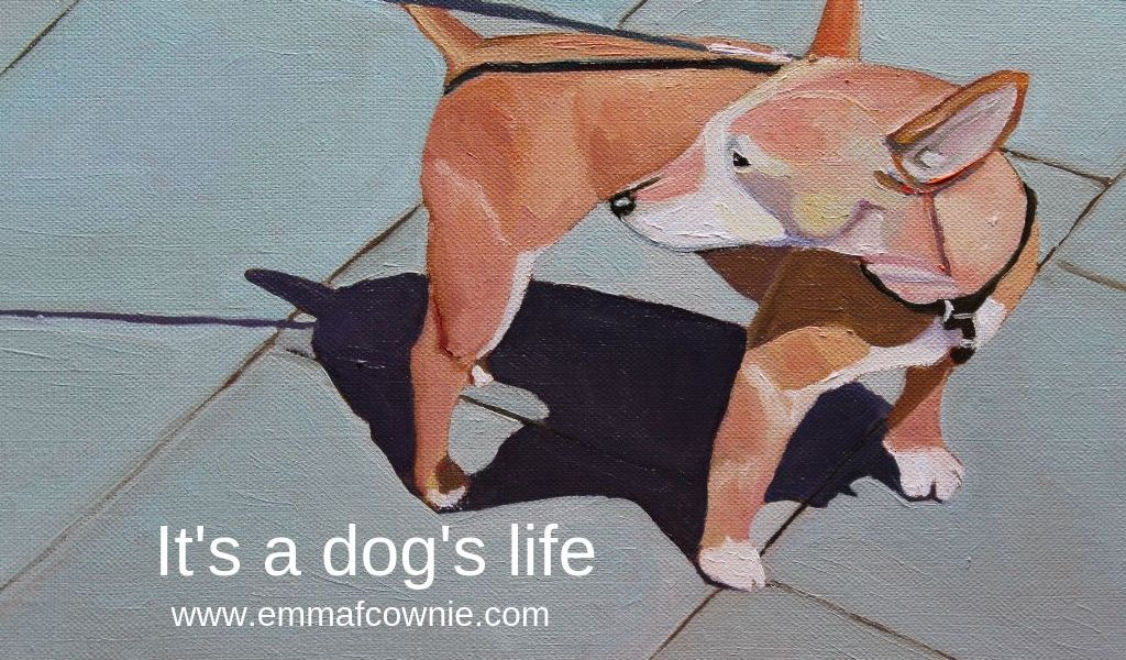 Painting of small dog